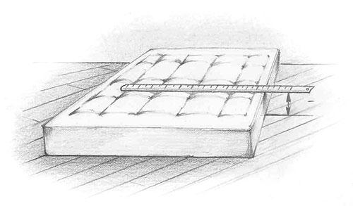 Замеры размеров матраса