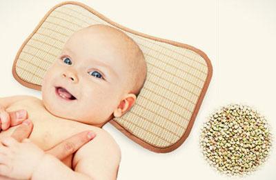Детская подушка с гречишной шелухой