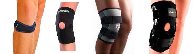 Различные бандажи для коленного устава