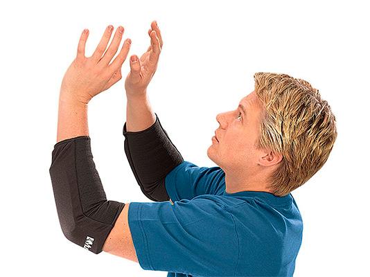 Бандаж на локтевой сустав для игры в волейбол