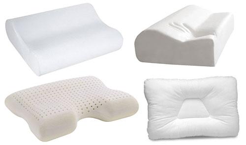 Виды ортопедических подушек для сна