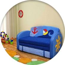 Детский диван с ортопедическим матрасом - фото