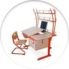 Ортопедическая парта и стул для школьника - фото