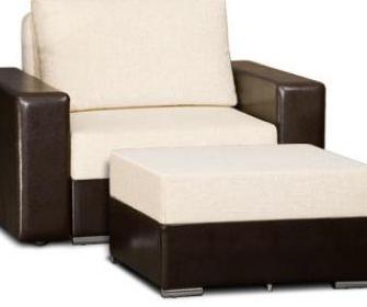 Кресло-кровать с ортопедическим матрасом - фото