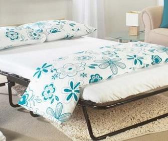 Раскладная кровать на ламелях с матрасом - фото